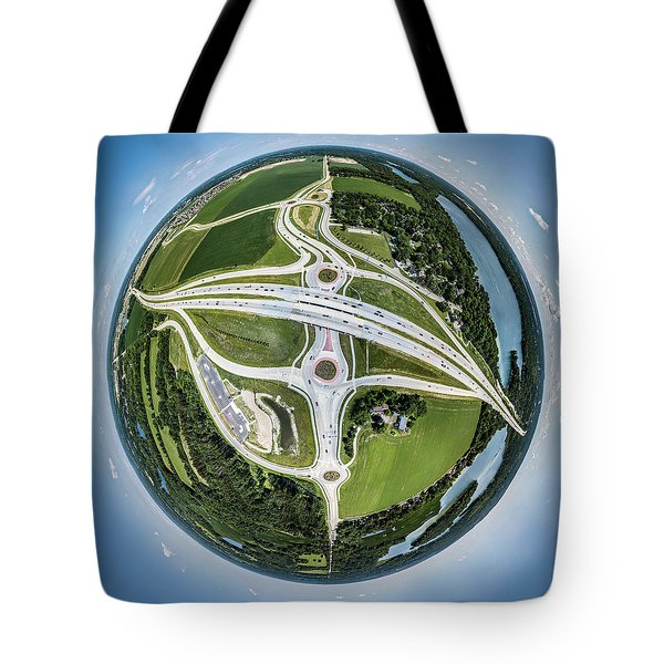 Tote Bag featuring the photograph Planet Of The Roundabouts by Randy Scherkenbach
