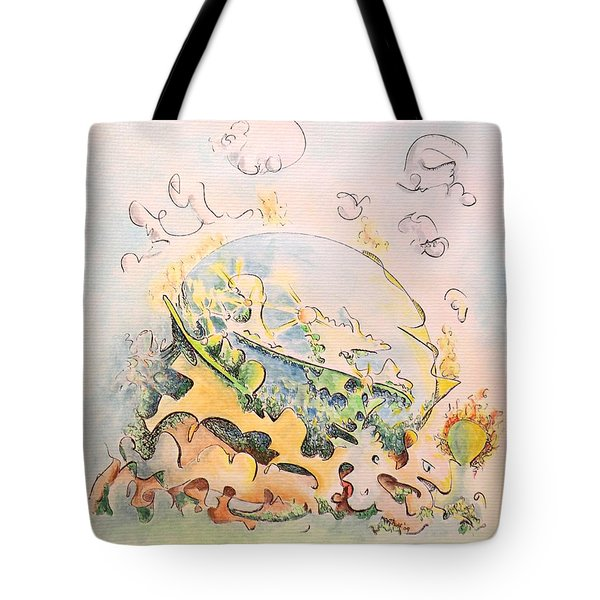Planetary Chariot Tote Bag by Dave Martsolf