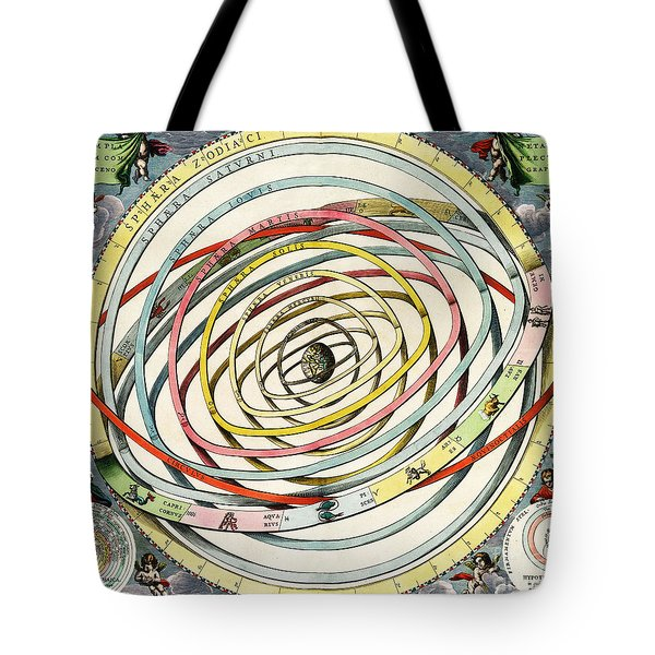 Planetary Orbits, Harmonia Tote Bag by Science Source