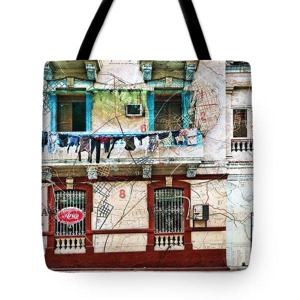 Plano De La Habana Tote Bag