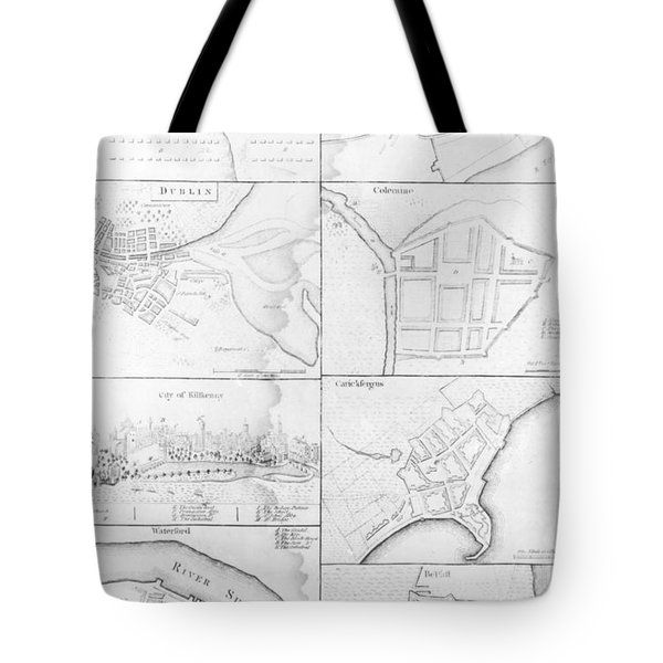 Plans Of The Principle Towers, Forts And Harbors In Ireland  Tote Bag