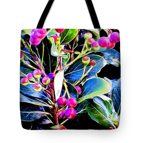 Plant 14 In Abstract Tote Bag