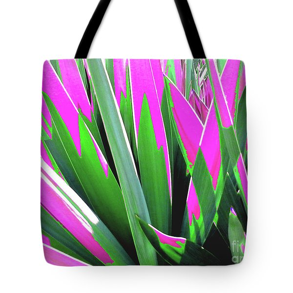 Tote Bag featuring the photograph Plant Burst - Pink by Rebecca Harman