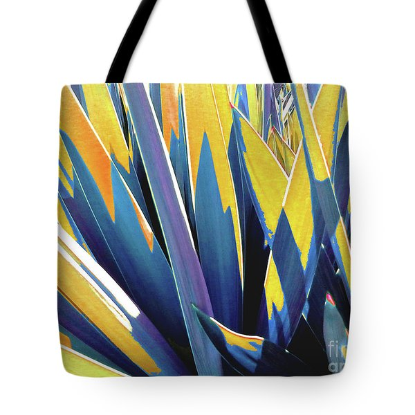 Tote Bag featuring the photograph Plant Burst - Yellow by Rebecca Harman