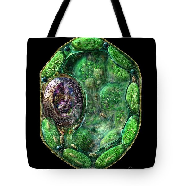 Tote Bag featuring the digital art Plant Cell by Russell Kightley