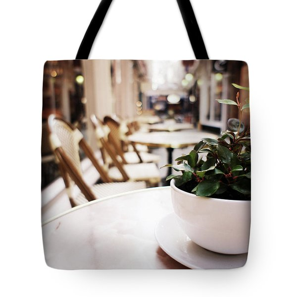 Plant In A Cup In A Cafe Tote Bag