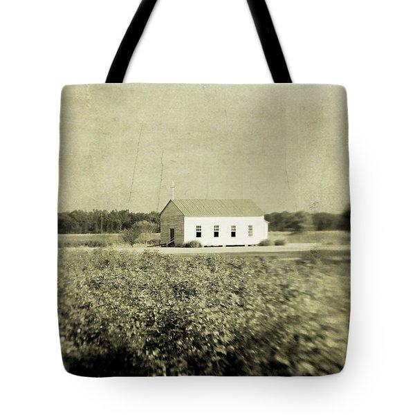 Plantation Church - Sepia Texture Tote Bag