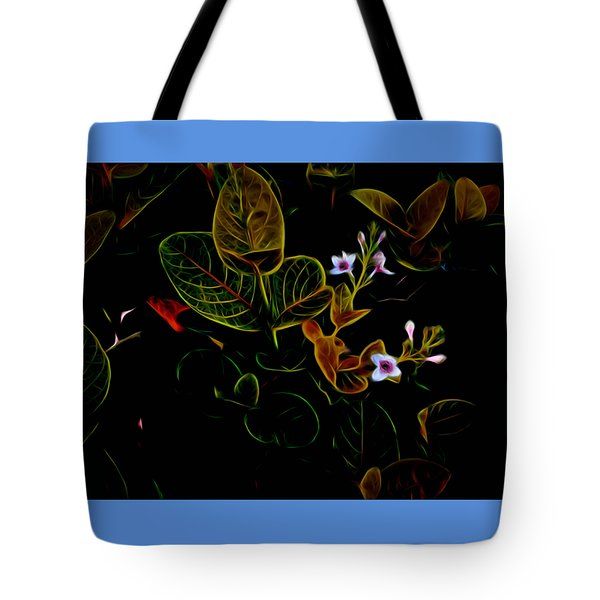 Plants In Abstract 19 Tote Bag