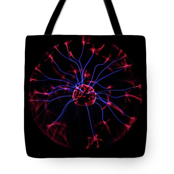 Tote Bag featuring the photograph Plasma Ball II by Richard Stephen