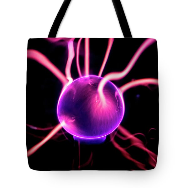 Tote Bag featuring the photograph Plasma Blast by Tyson Kinnison