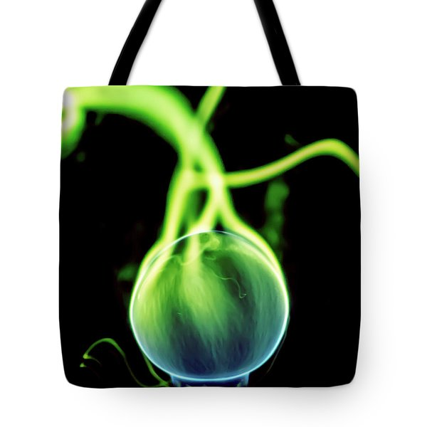 Tote Bag featuring the photograph Plasma Blaster by Tyson Kinnison