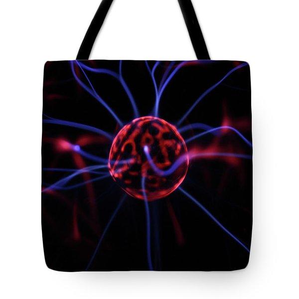 Plasma Electrode Tote Bag by Richard Stephen
