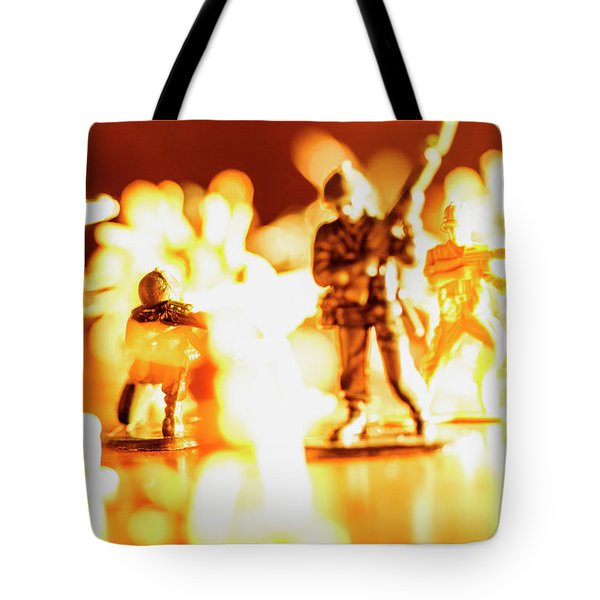 Tote Bag featuring the photograph Plastic Army Men 1 by Micah May