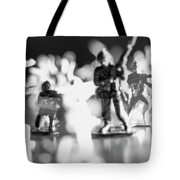 Tote Bag featuring the photograph Plastic Army Men 2 by Micah May