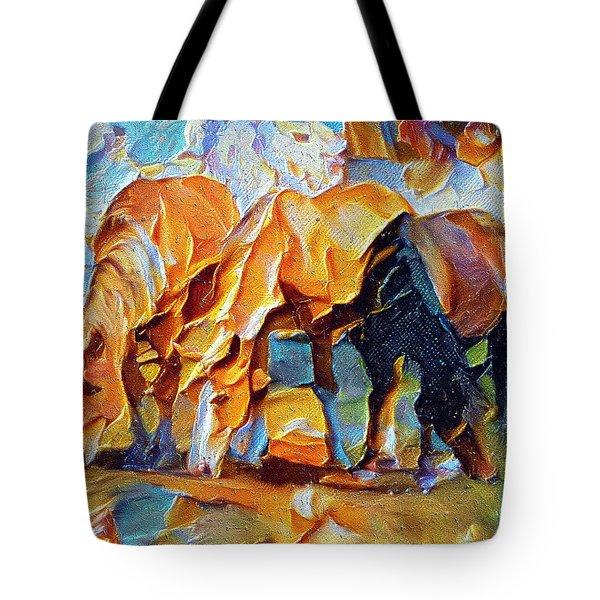 Plastic Horses Tote Bag