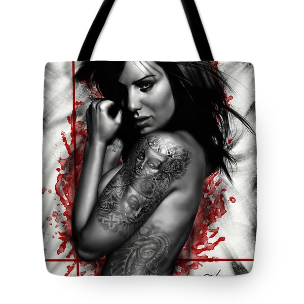 Plata O Plomo Tote Bag by Pete Tapang