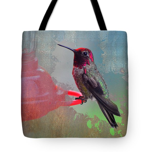 Plate 031 - Hummingbird Grunge Series Tote Bag
