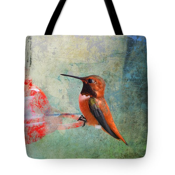 Plate 048 - Hummingbird Grunge Series Tote Bag