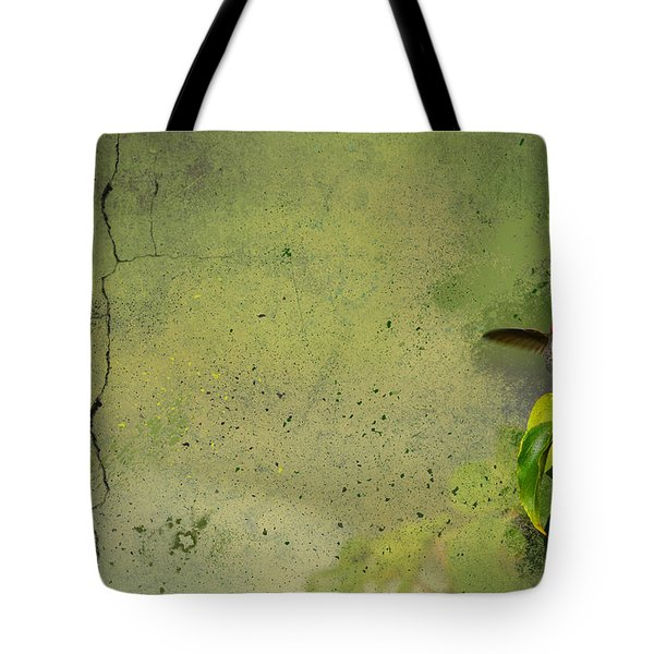 Plate 087 - Hummingbird Grunge Series Tote Bag