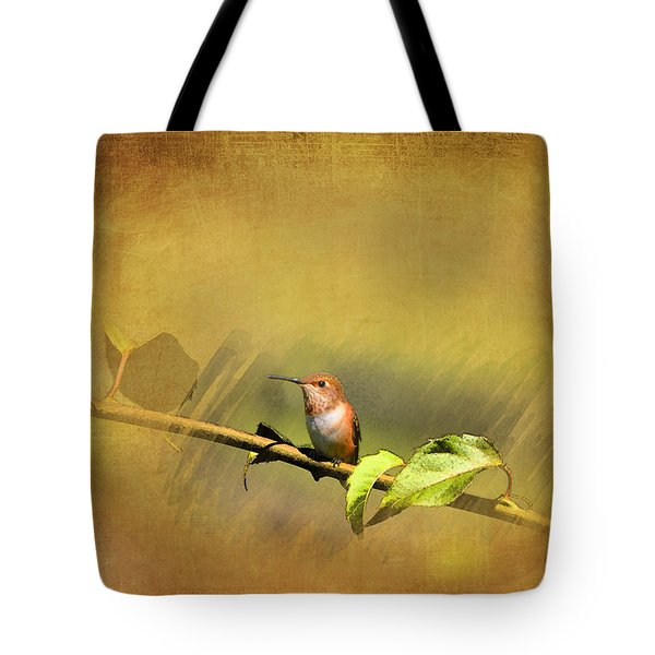 Plate 112 - Hummingbird Grunge Series Tote Bag