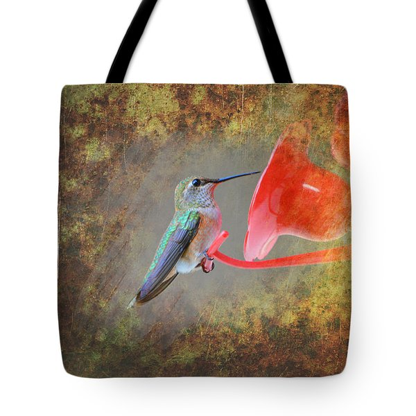 Plate 153 - Hummingbird Grunge Series Tote Bag