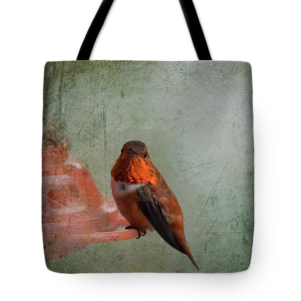 Plate 164 - Hummingbird Grunge Series Tote Bag