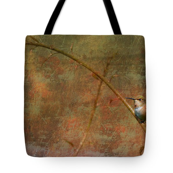 Plate 225 - Hummingbird Grunge Series Tote Bag