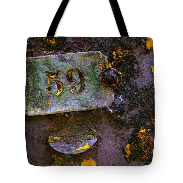 Plate 59 Tote Bag by Carlos Caetano