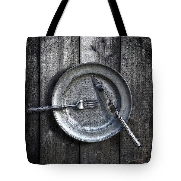Plate With Silverware Tote Bag by Joana Kruse
