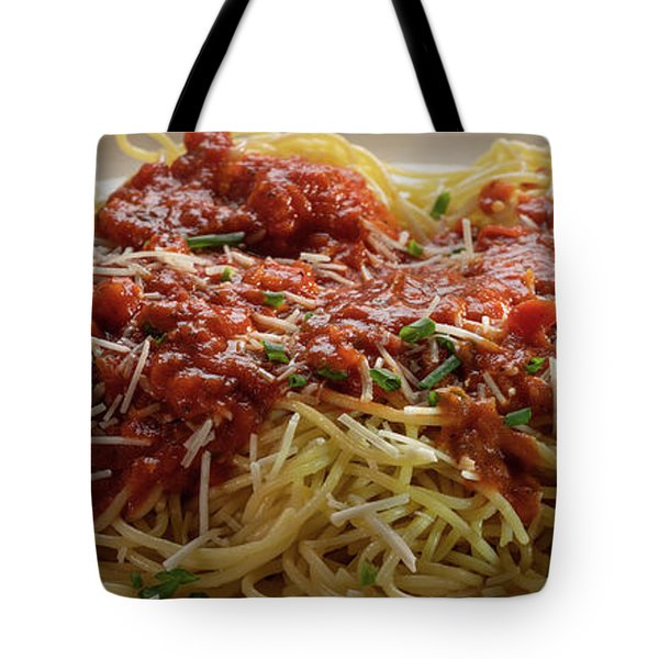 Plated Pasta Tote Bag