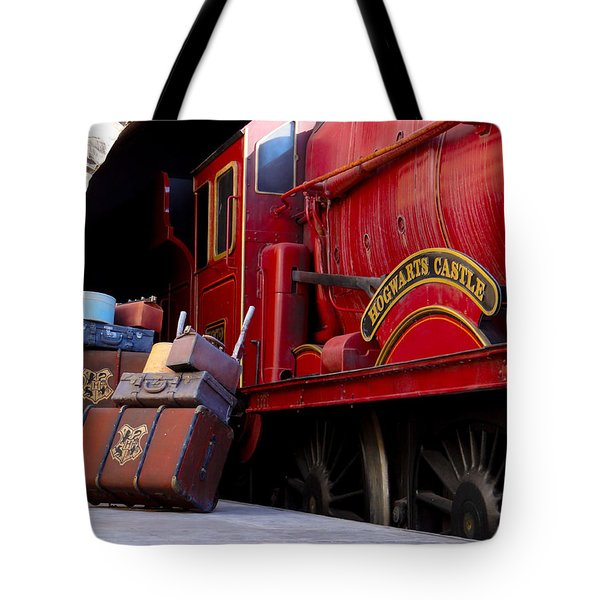 Platform Nine And Three Quarters Tote Bag by Julia Wilcox