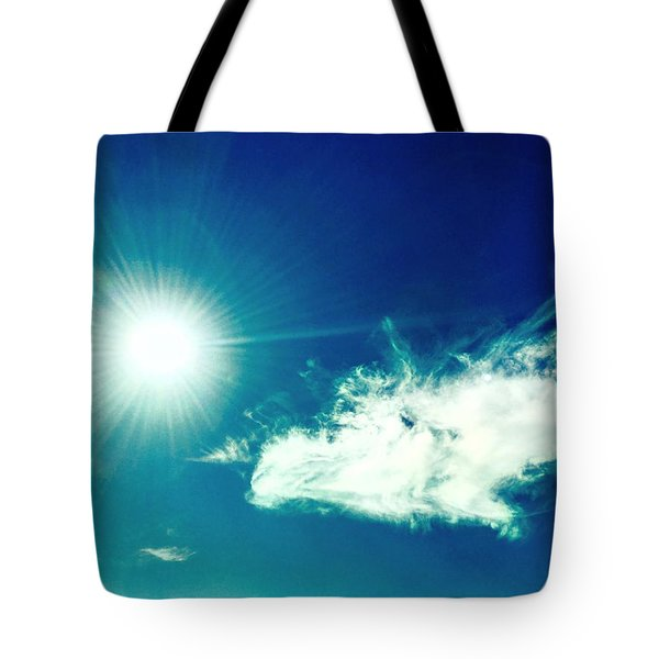Platinum Rays And Angelic Cloud Bless The Prairie Tote Bag