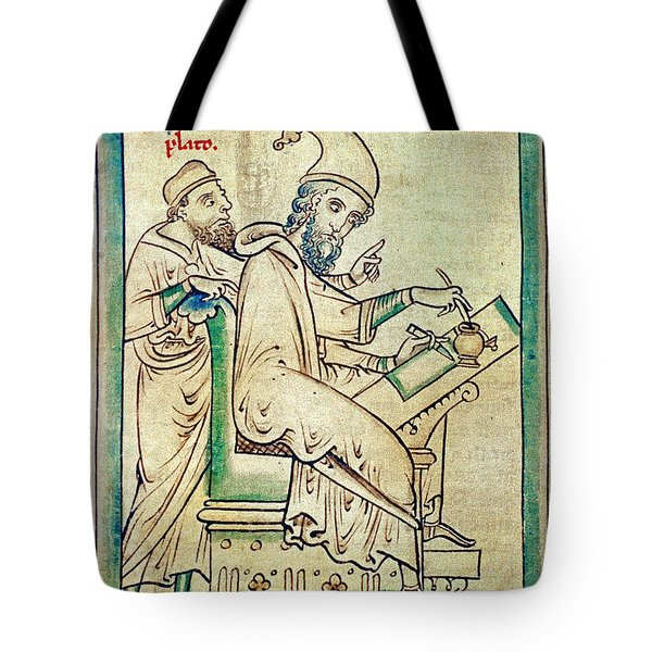 Plato With Socrates Tote Bag by Granger
