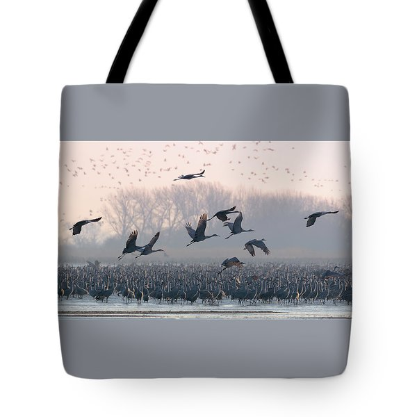 Platte River Morn Tote Bag