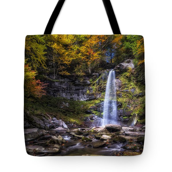 Tote Bag featuring the photograph Plattekill Falls by Mark Papke