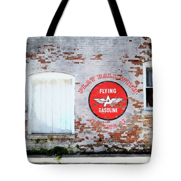 Play Ball With Flying A Tote Bag by Sandy MacGowan