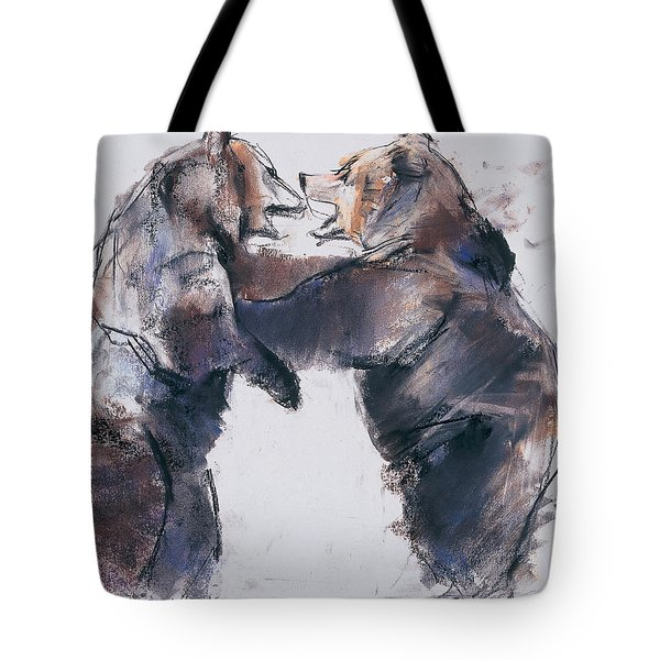 Play Fight Tote Bag