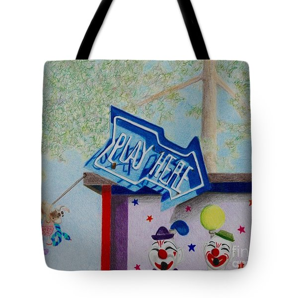 Play Here Tote Bag