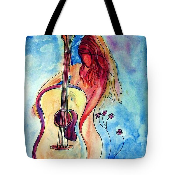 Play Me A Song Tote Bag by Robin Monroe
