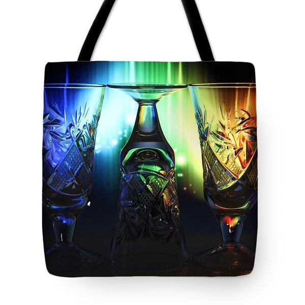 Play Of Glass And Colors Tote Bag