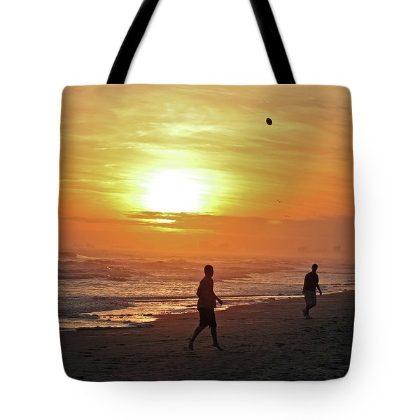 Play On The Beach Tote Bag