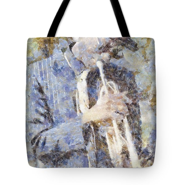 Play The Blues Tote Bag by Shirley Stalter