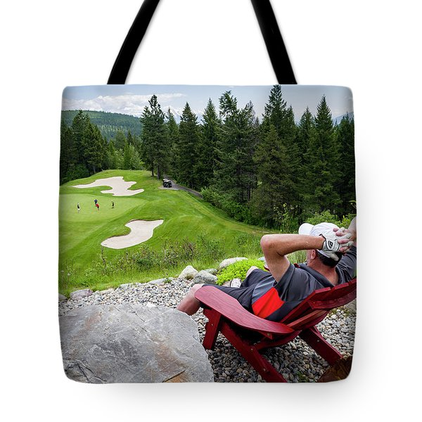 Tote Bag featuring the photograph Play Through Or Enjoy The View by Darcy Michaelchuk