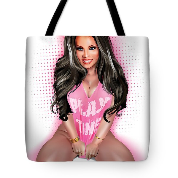 Tote Bag featuring the digital art Play Time by Brian Gibbs