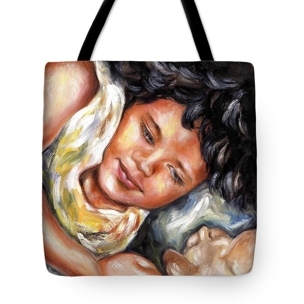 Tote Bag featuring the painting Play Time by Hiroko Sakai