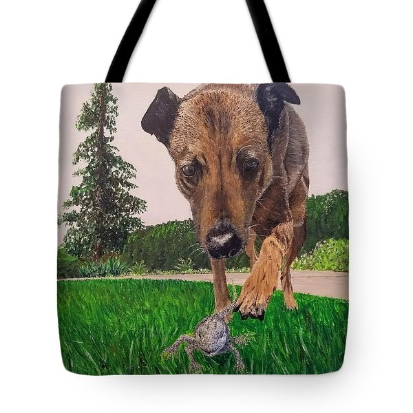 Tote Bag featuring the painting Play With Me by Kevin Daly