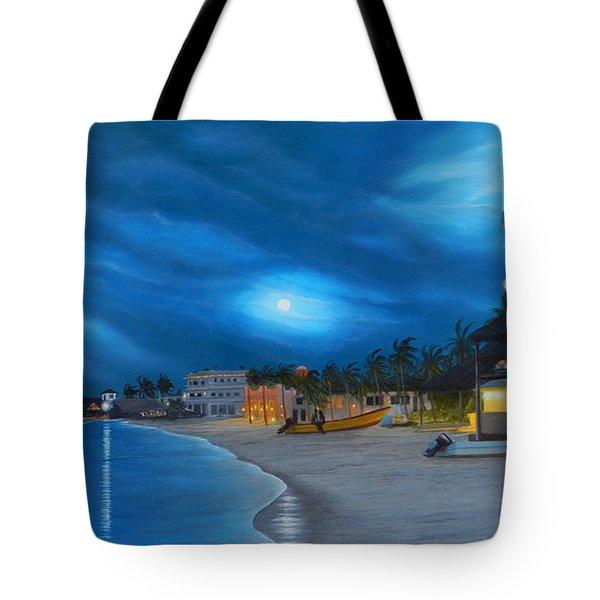 Playa De Noche Tote Bag by Angel Ortiz