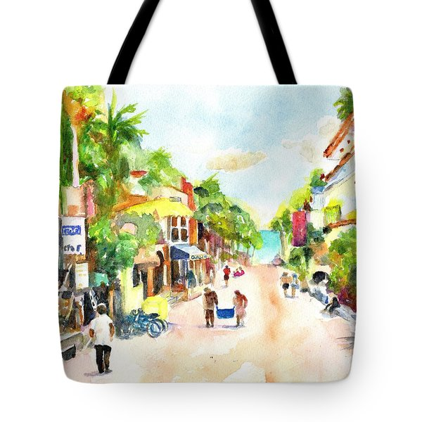 Playa Del Carmen Mexico Shops Tote Bag