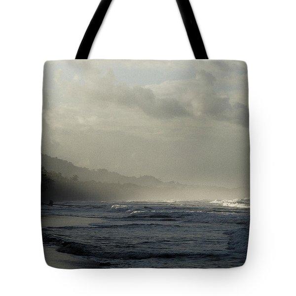 Playa Negra Beach At Sunset In Costa Rica Tote Bag