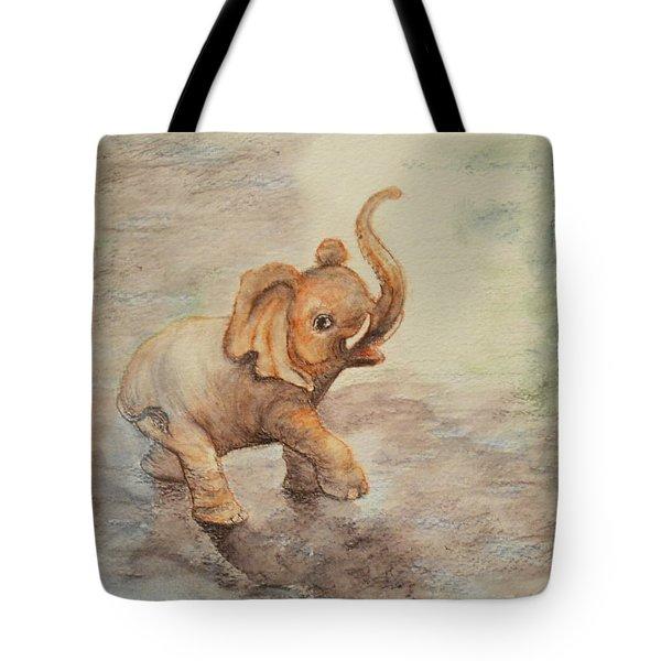 Playful Elephant Baby Tote Bag